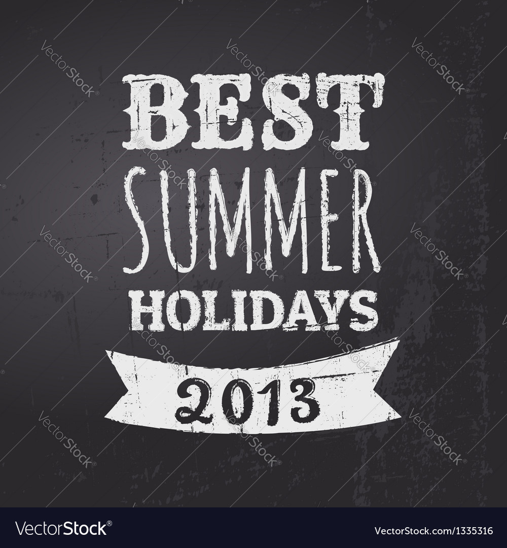 Chalkboard summer holidays vector | Price: 1 Credit (USD $1)