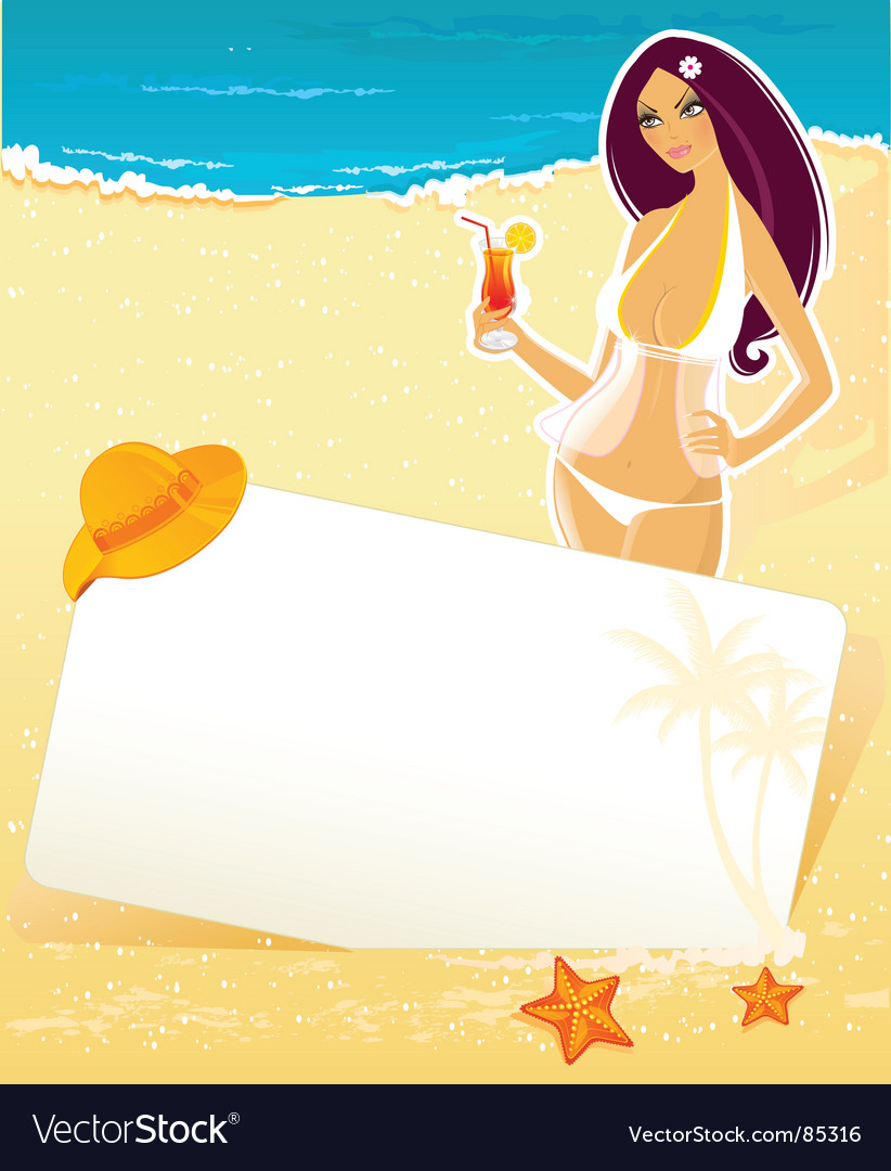 Girl summer vector | Price: 3 Credit (USD $3)