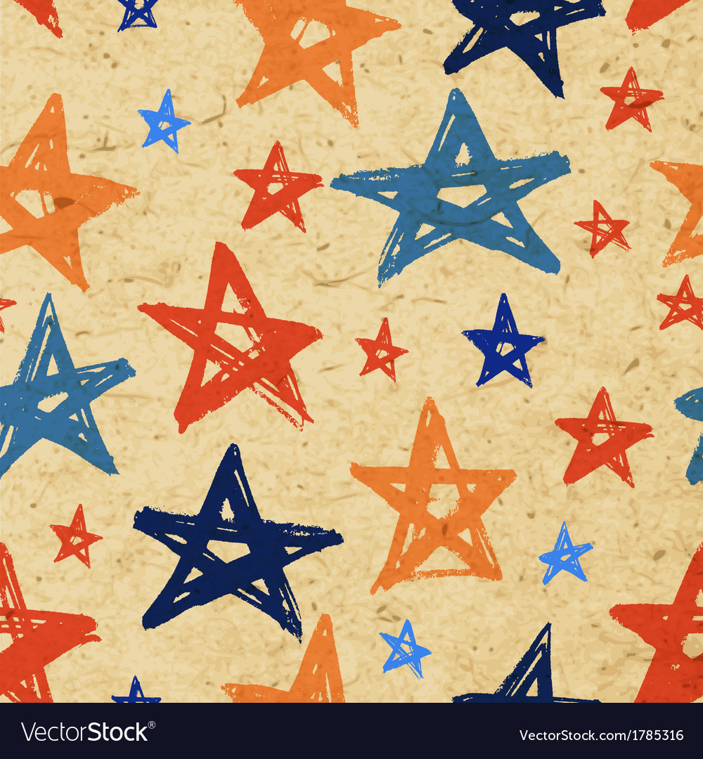Grunge stars paper pattern vector | Price: 1 Credit (USD $1)