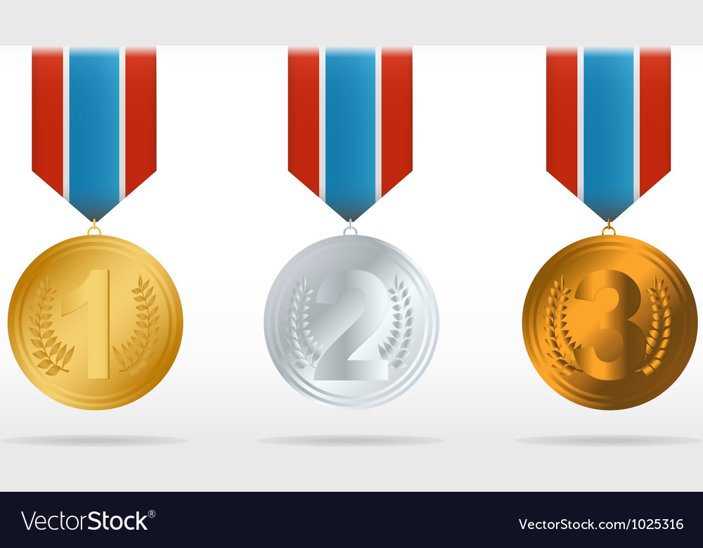 Medal set vector | Price: 1 Credit (USD $1)
