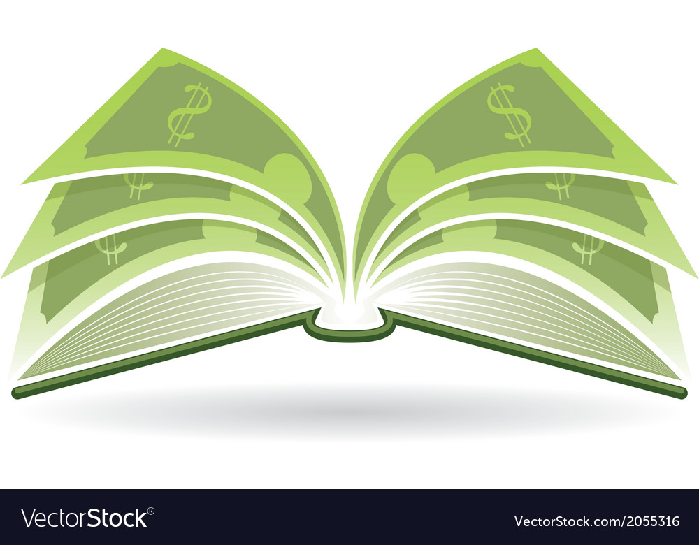 Money book vector | Price: 1 Credit (USD $1)