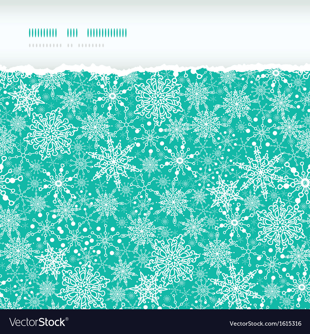 Snowflake texture horizontal torn seamless pattern vector | Price: 1 Credit (USD $1)