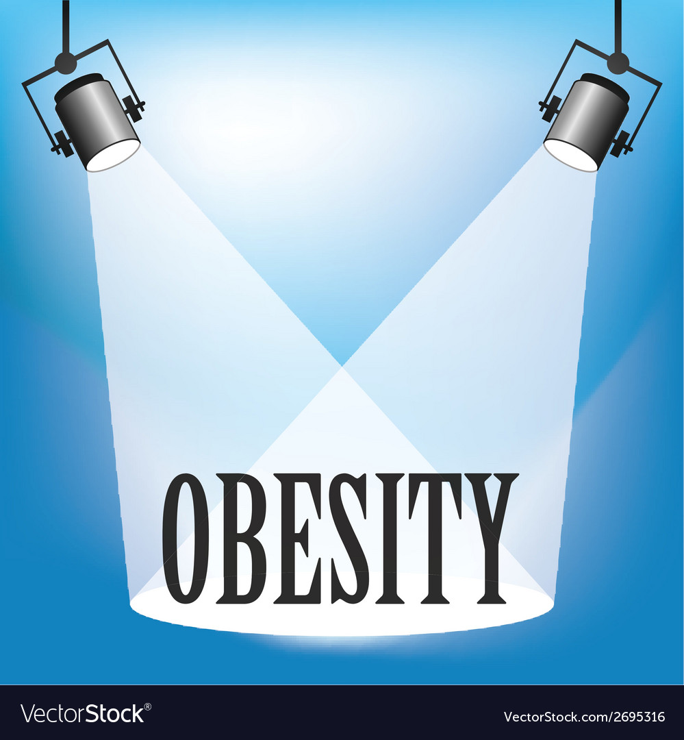 Spotlight obesity vector | Price: 1 Credit (USD $1)