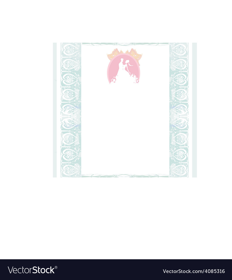 Stylish wedding invitation card with vintage vector | Price: 1 Credit (USD $1)