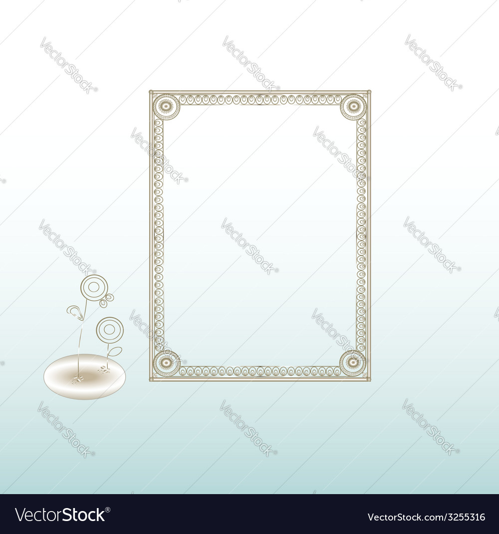 Vintage frame silver vector | Price: 1 Credit (USD $1)