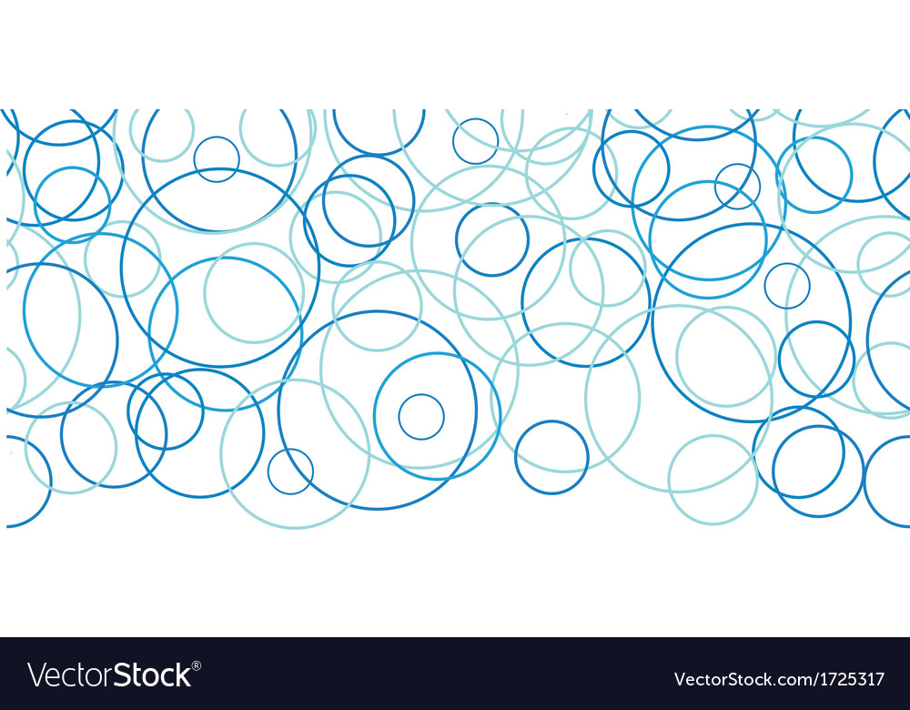 Abstract blue circles horizontal border seamless vector | Price: 1 Credit (USD $1)