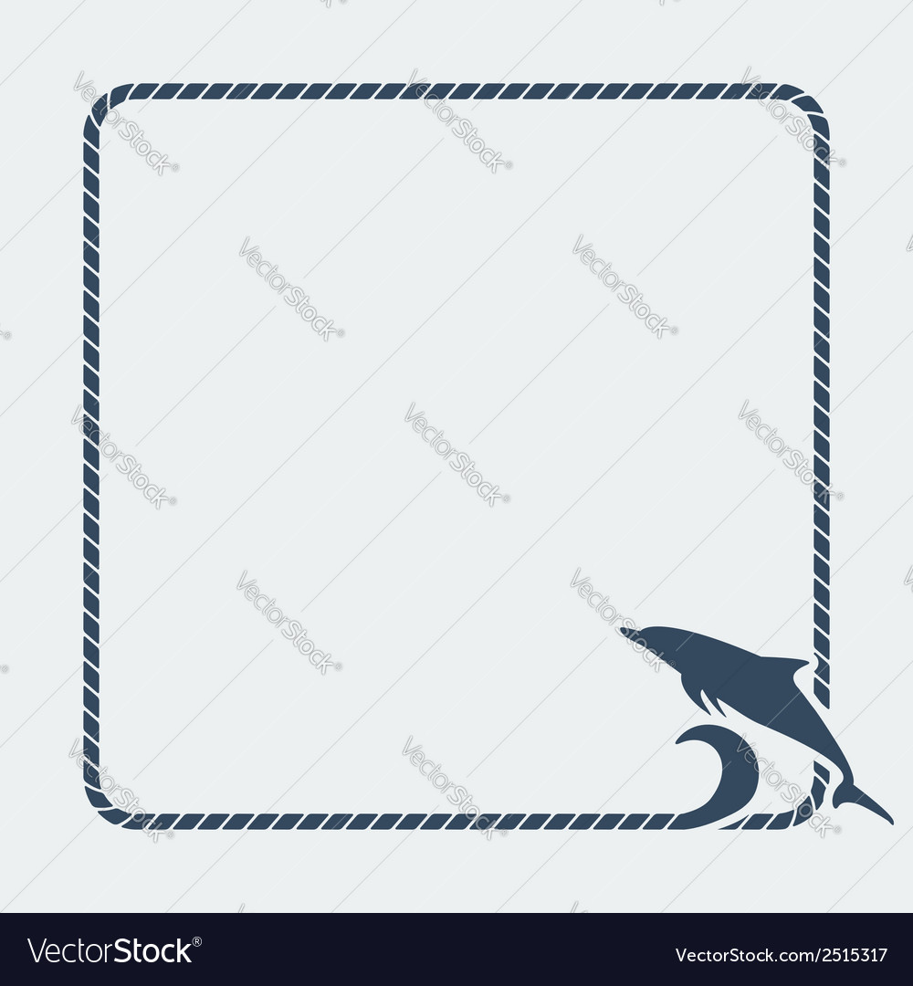 Dolphin marine background vector | Price: 1 Credit (USD $1)
