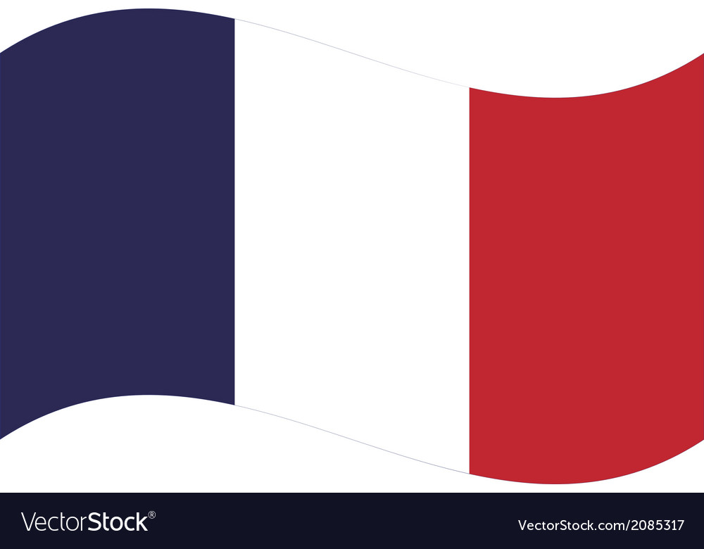 Flag france vector | Price: 1 Credit (USD $1)