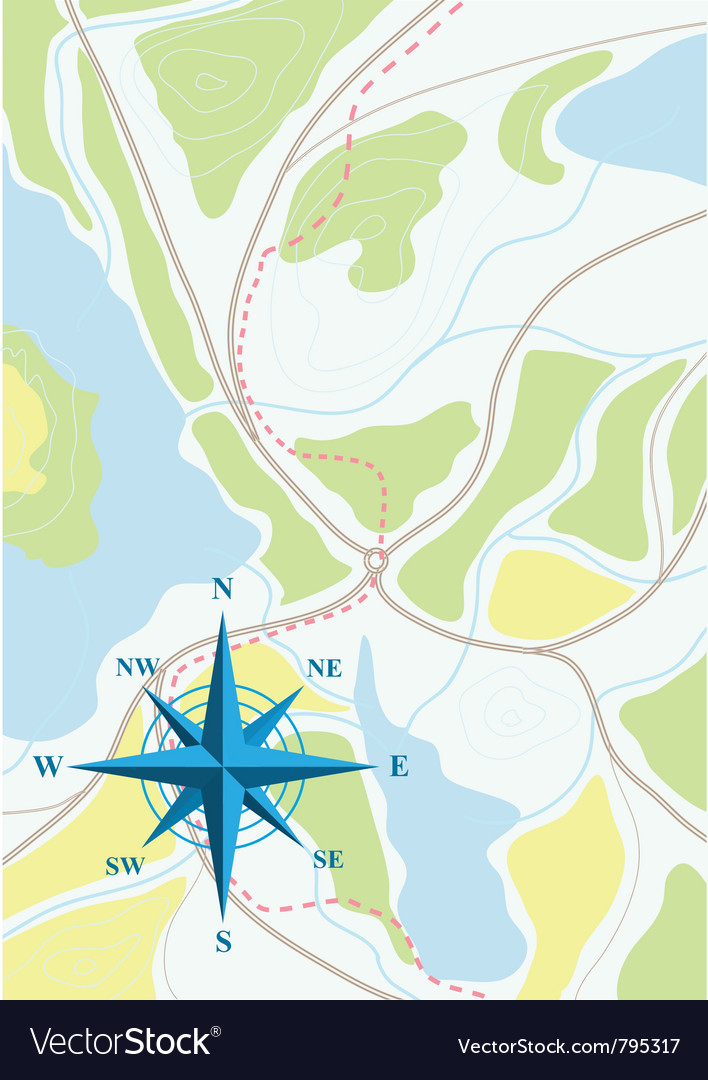 Map of trip vector | Price: 1 Credit (USD $1)
