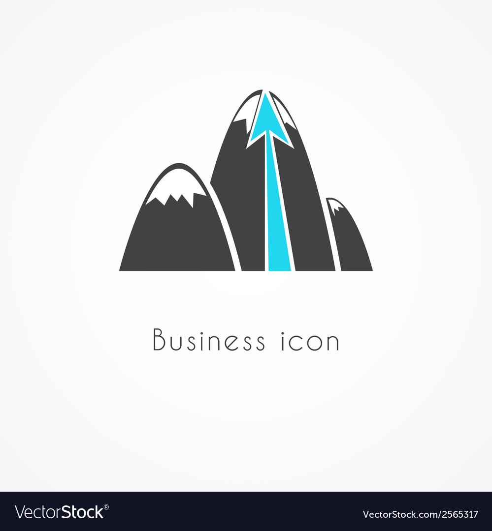 Mountain business icon vector | Price: 1 Credit (USD $1)