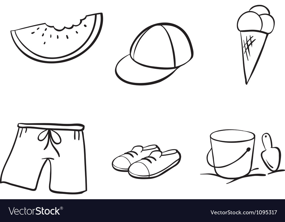 Sketches of various objects vector | Price: 1 Credit (USD $1)