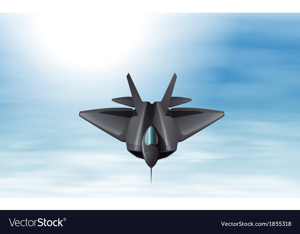 A gray fighter jet in the sky vector | Price: 1 Credit (USD $1)