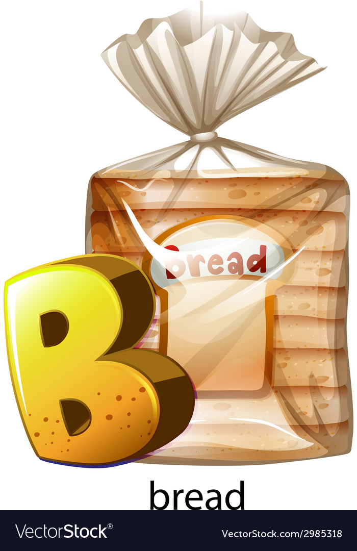 A letter b for bread vector | Price: 1 Credit (USD $1)