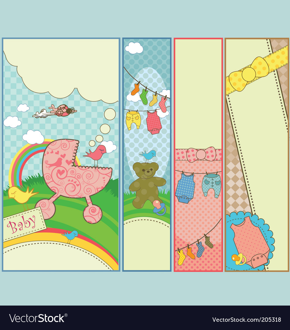Baby banners vector | Price: 1 Credit (USD $1)