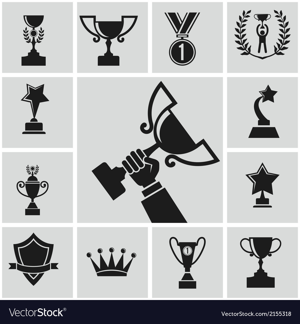Black trophy vector | Price: 1 Credit (USD $1)