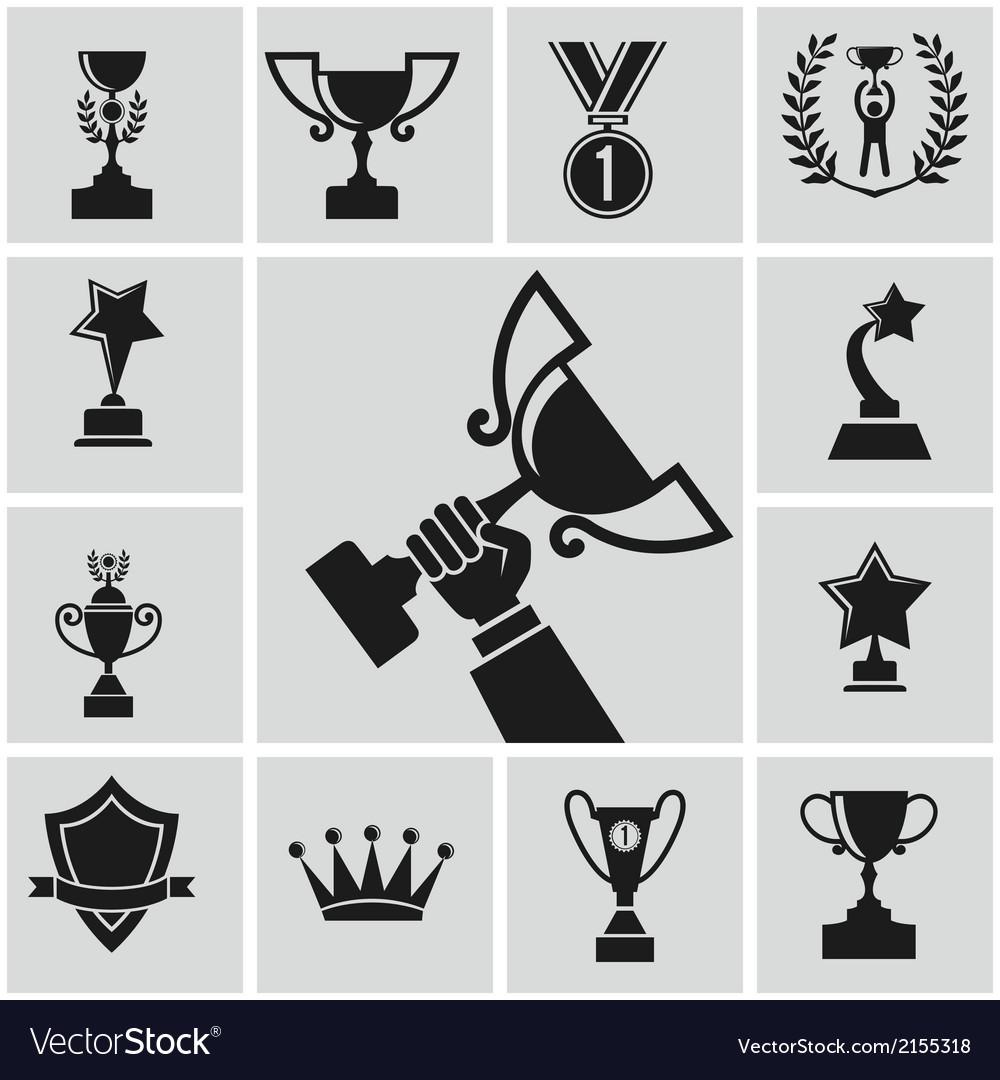Black trophy vector | Price: 1 Credit (USD $1)