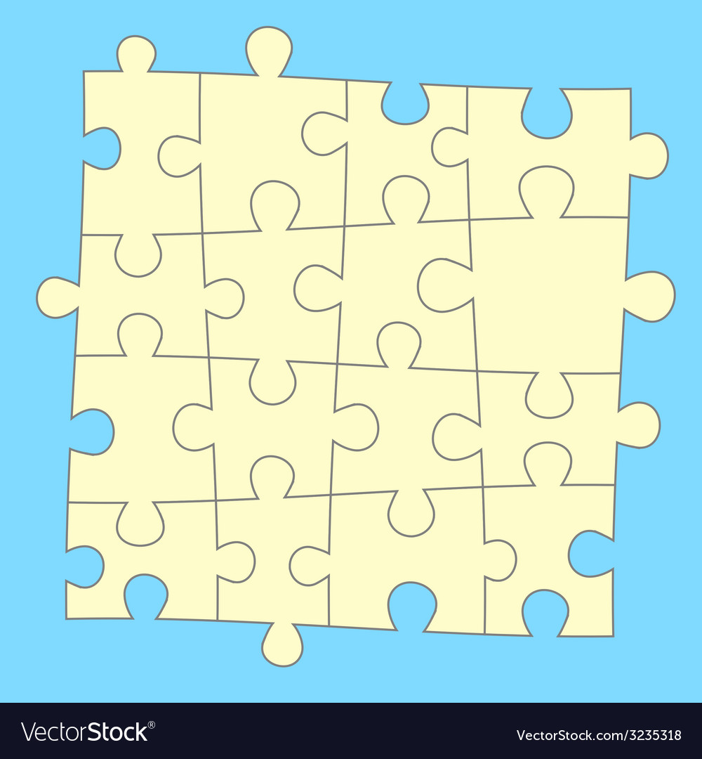 Blue puzzle background vector | Price: 1 Credit (USD $1)