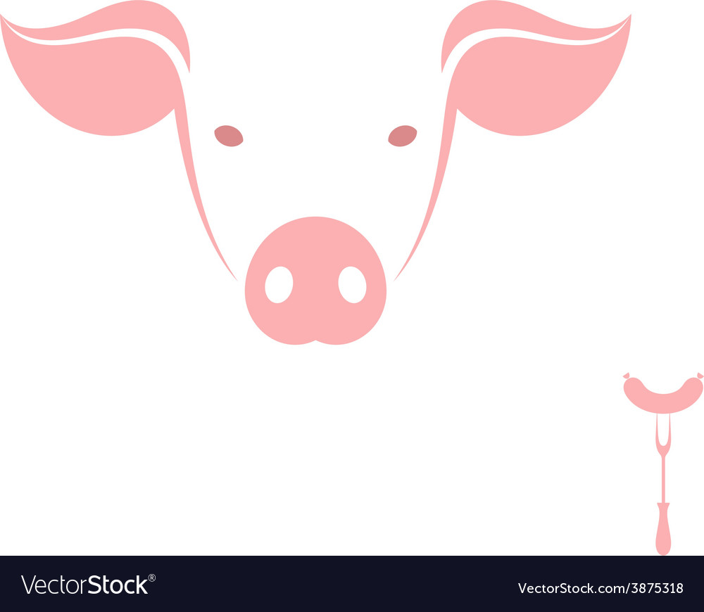 Funny pig vector | Price: 1 Credit (USD $1)
