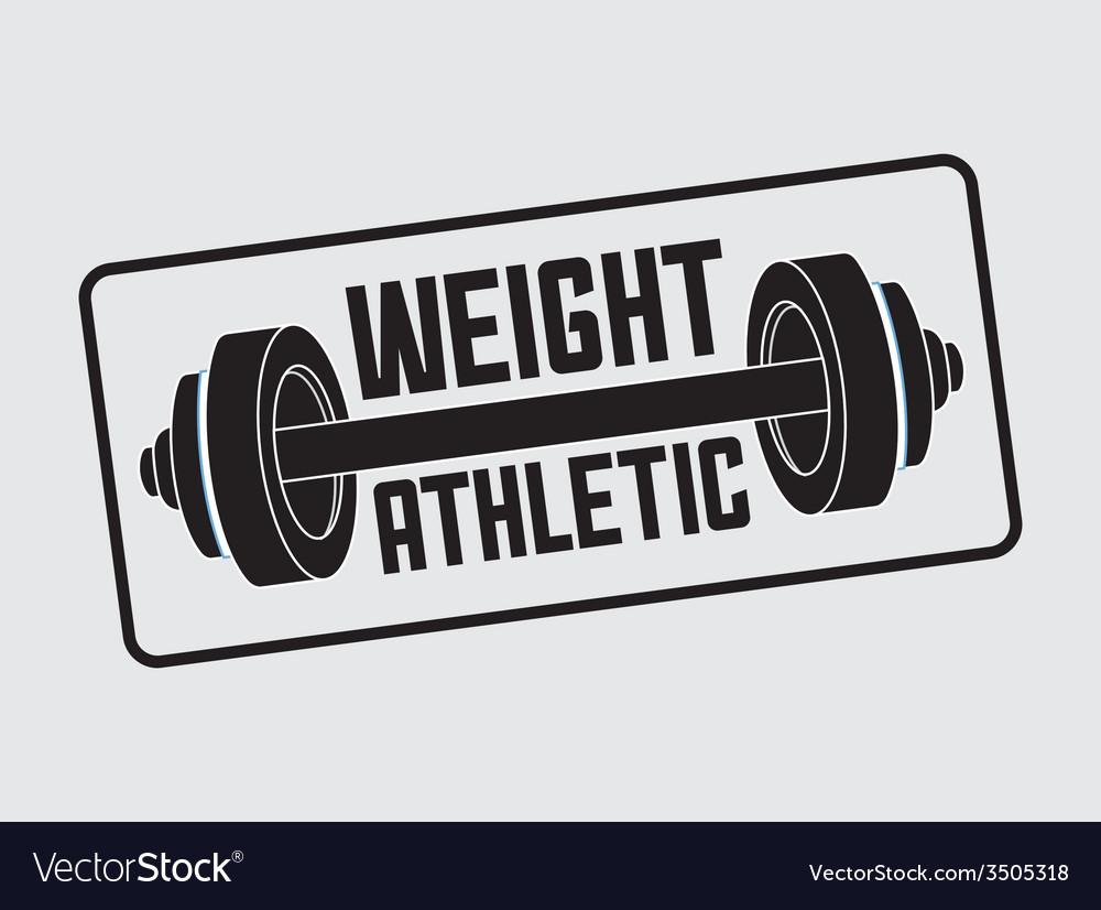 Gym label design vector | Price: 1 Credit (USD $1)