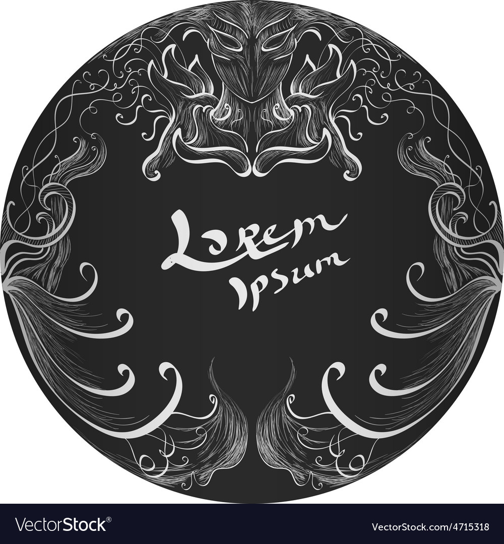 Hand drawn ornament background vector   Price: 1 Credit (USD $1)