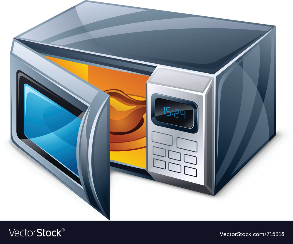 Microwave oven vector | Price: 3 Credit (USD $3)