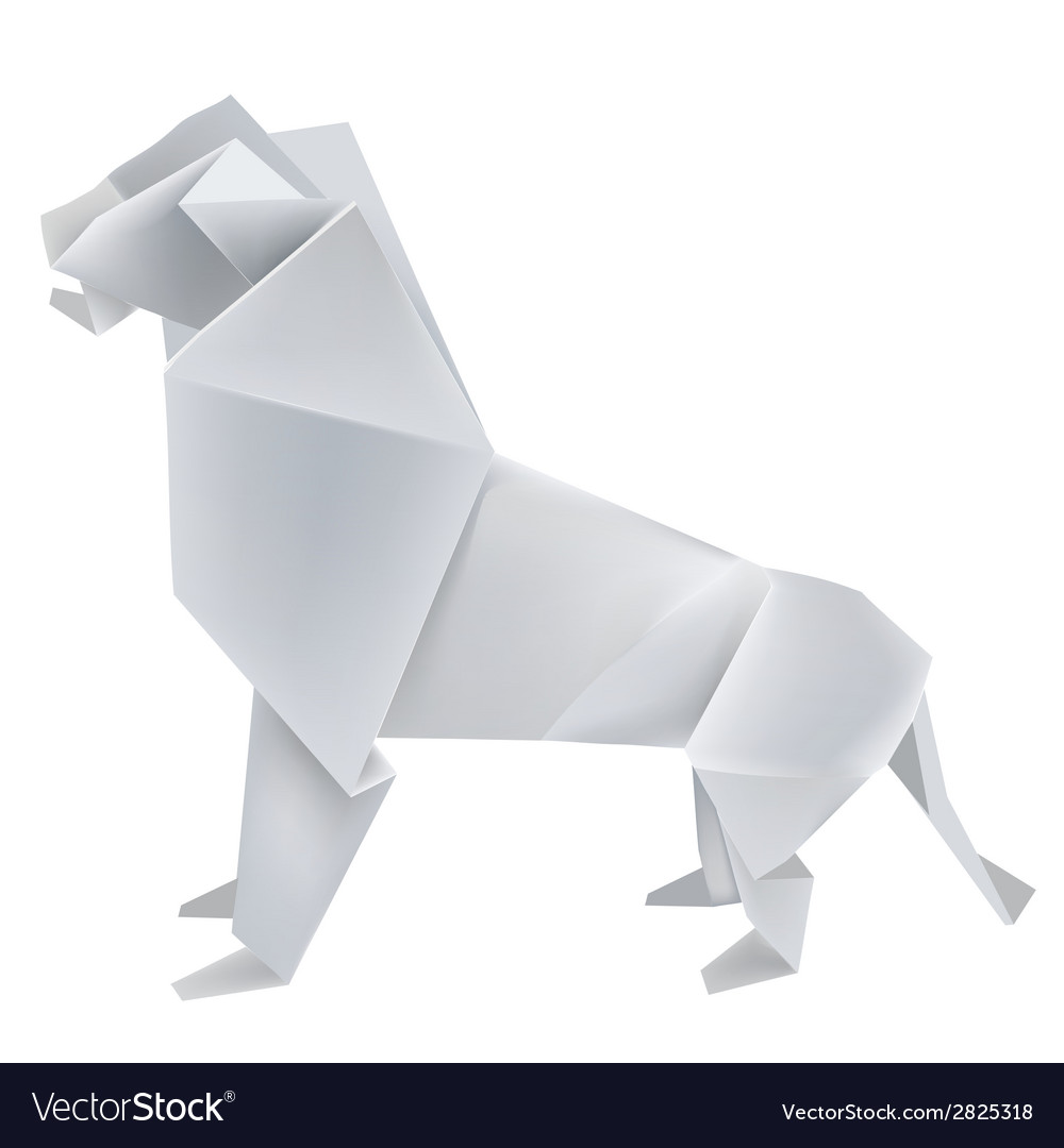 Origami lion vector | Price: 1 Credit (USD $1)