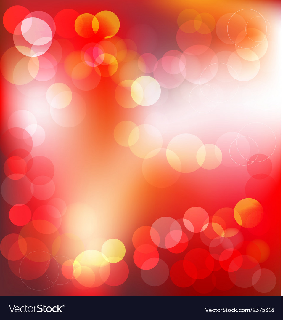 Red elegant abstract background with bokeh lights vector | Price: 1 Credit (USD $1)