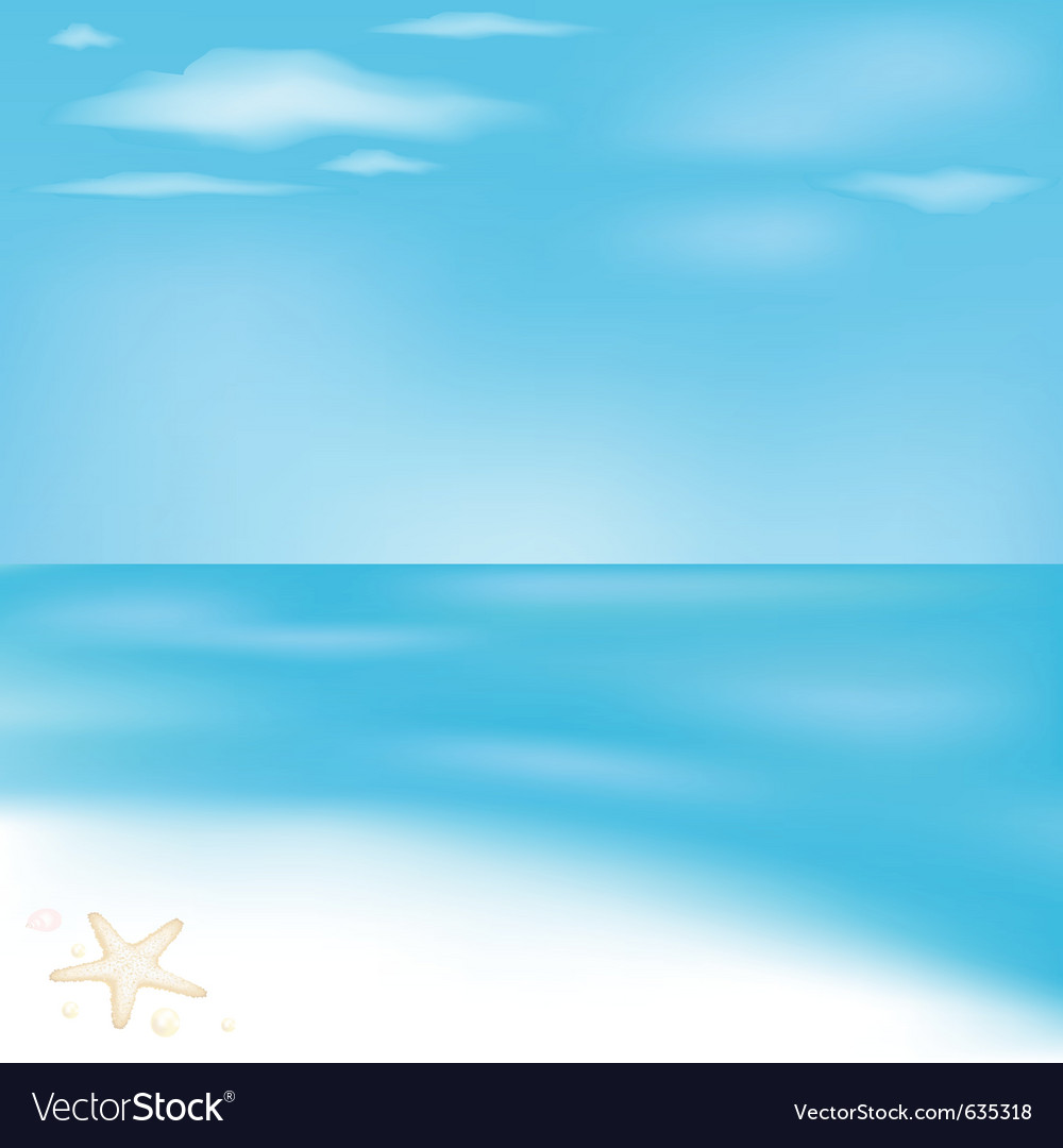 Sea and beach vector | Price: 1 Credit (USD $1)