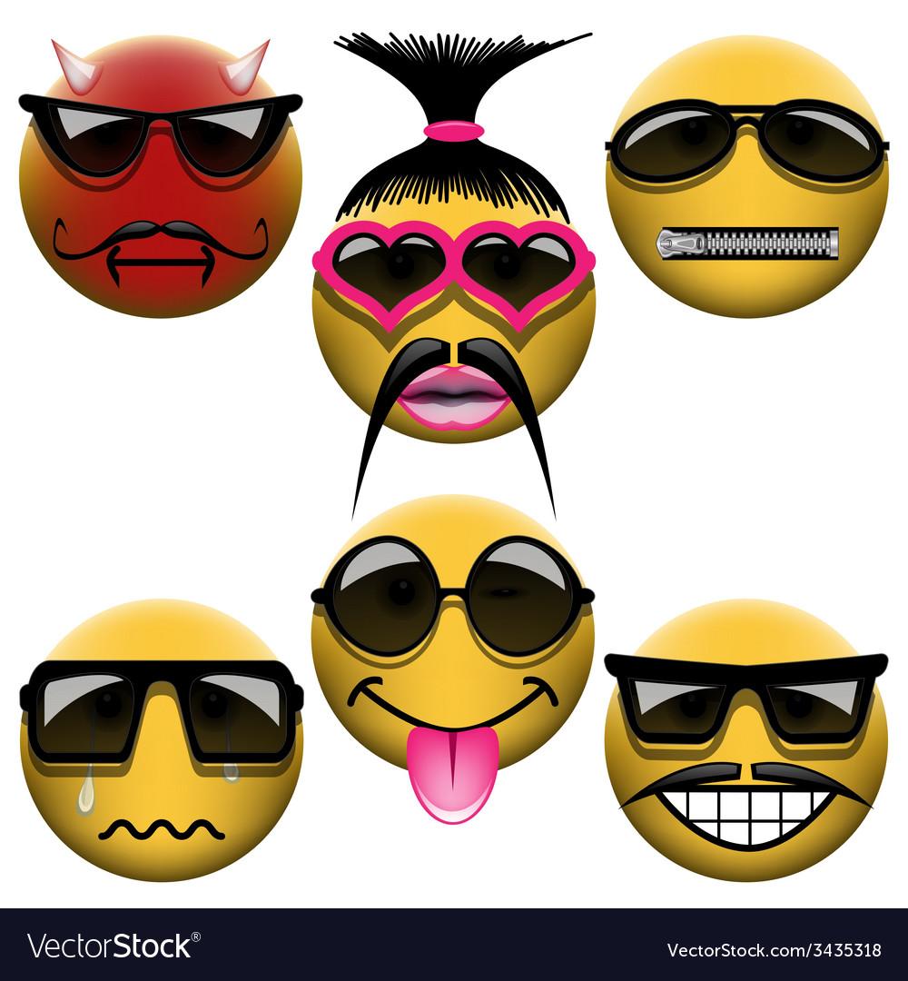 Smiley set vector | Price: 1 Credit (USD $1)