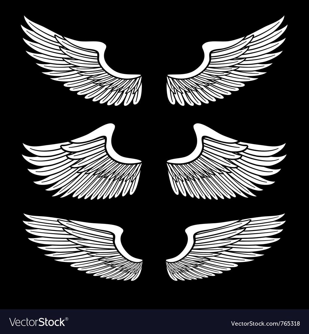 Wings set vector | Price: 1 Credit (USD $1)