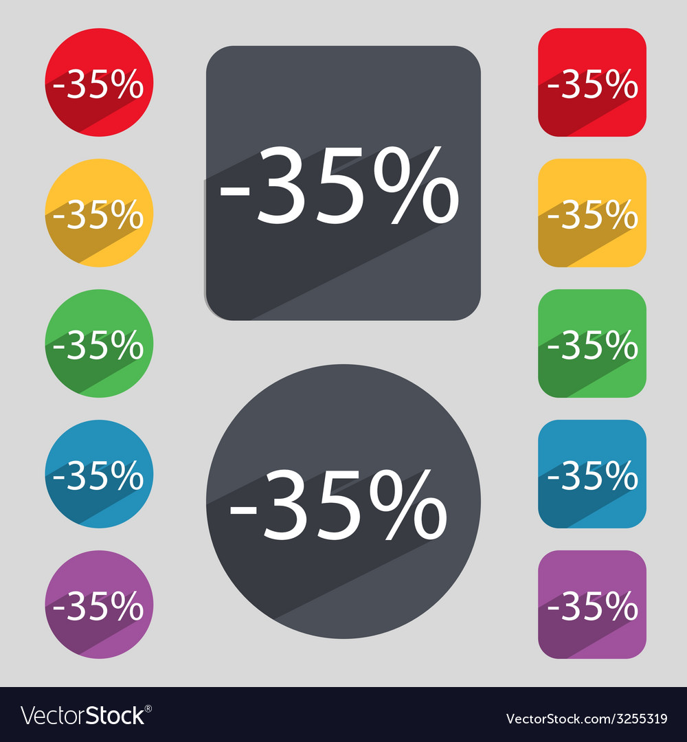 35 percent discount sign icon sale symbol special vector   Price: 1 Credit (USD $1)