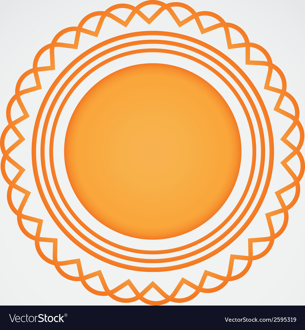 Abstract golden badge icon vector | Price: 1 Credit (USD $1)