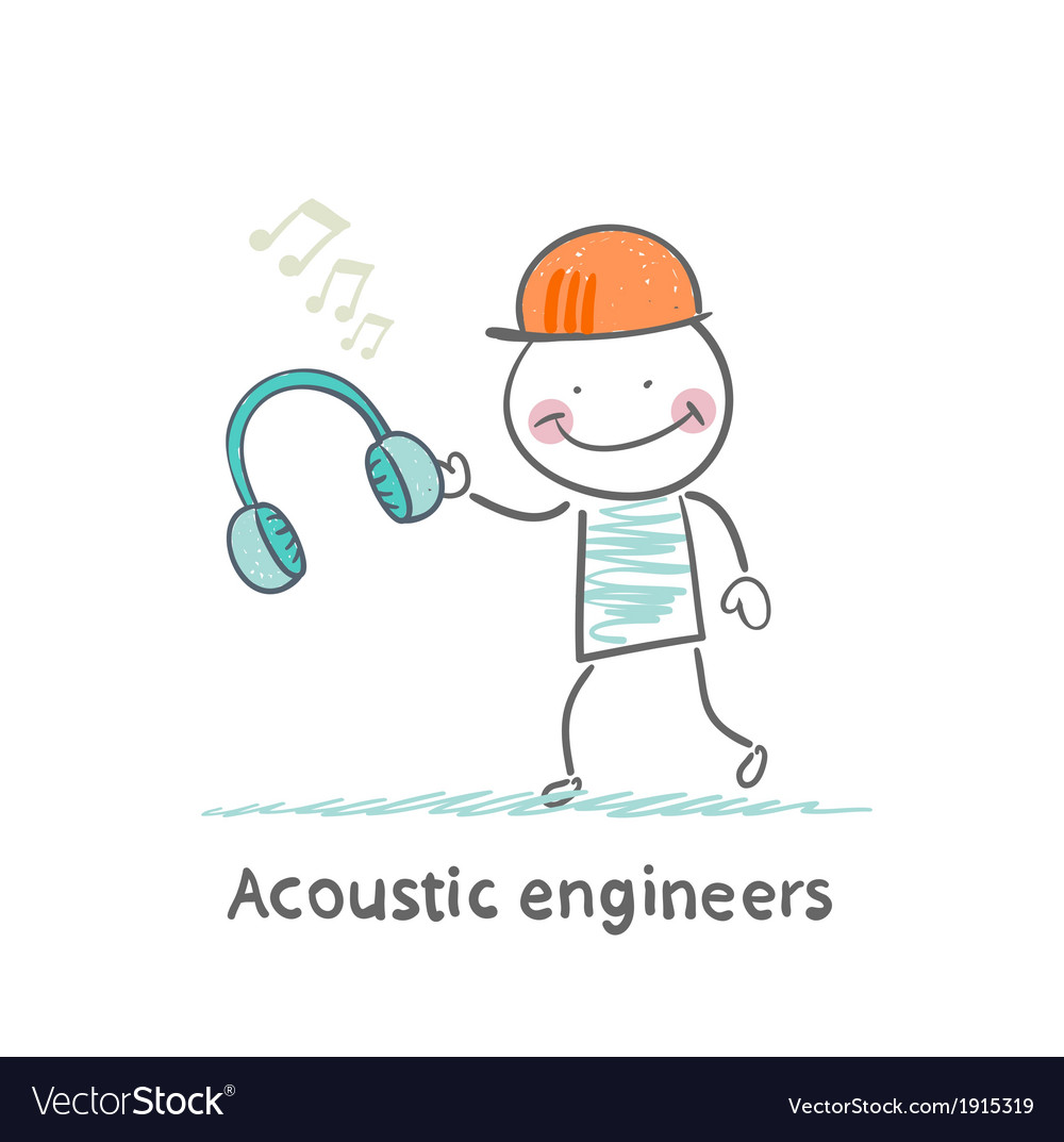 Acoustic engineer holding headphones vector | Price: 1 Credit (USD $1)