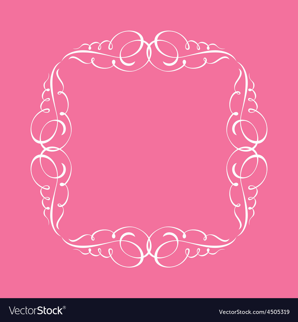 Calligraphic frame and page decoration whit vector | Price: 1 Credit (USD $1)
