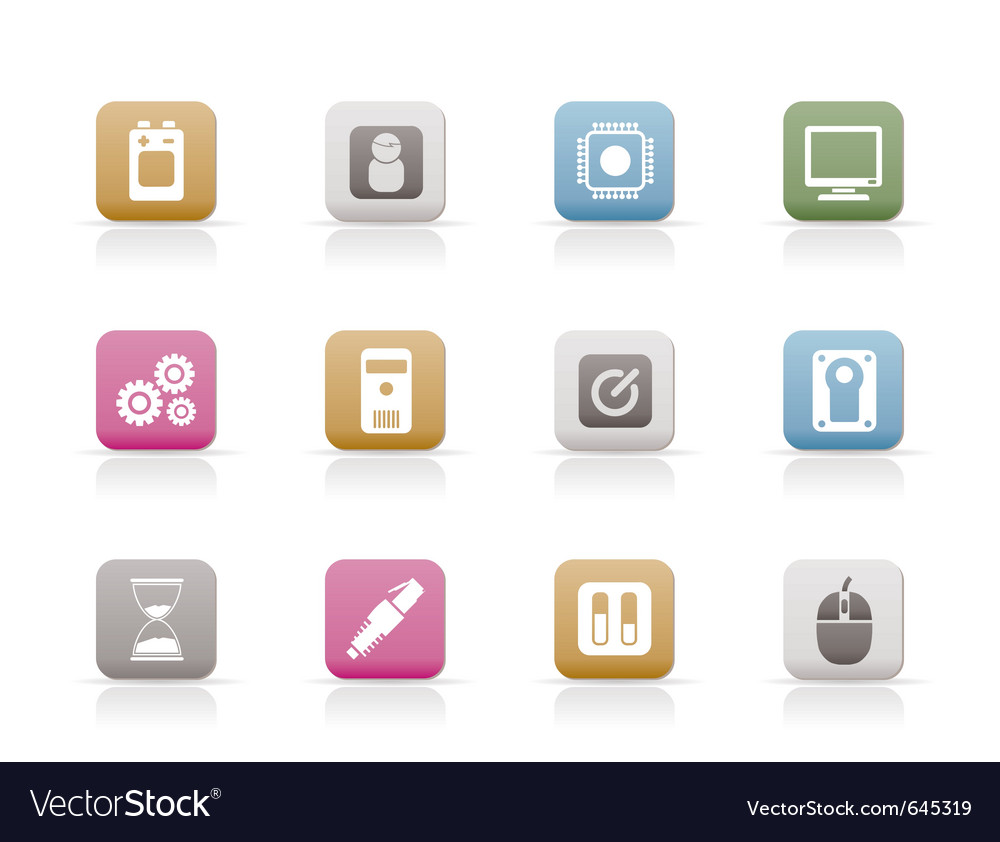 Computer and mobile phone elements icon vector   Price: 1 Credit (USD $1)