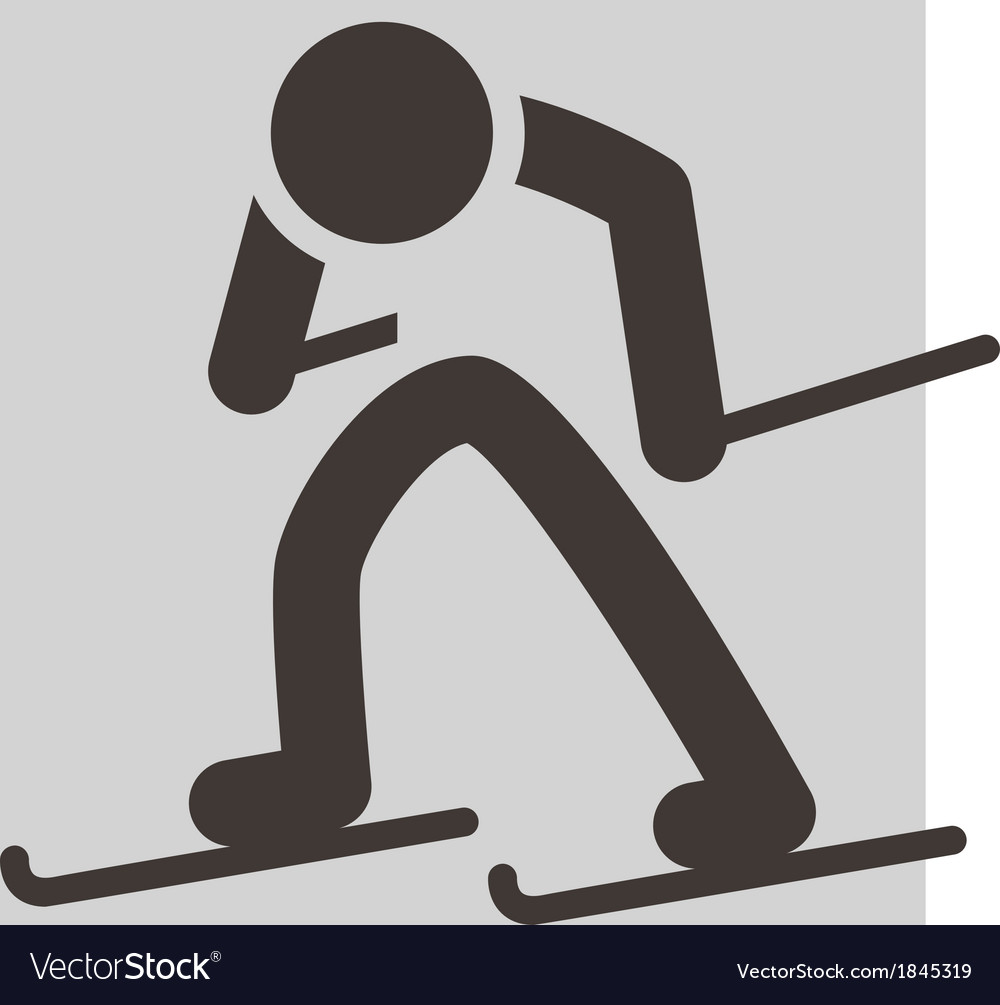 Cross country skiing icon vector | Price: 1 Credit (USD $1)