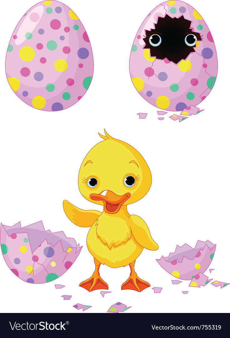 Easter duckling vector | Price: 1 Credit (USD $1)