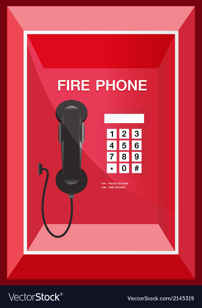Fire phone sign vector | Price: 1 Credit (USD $1)