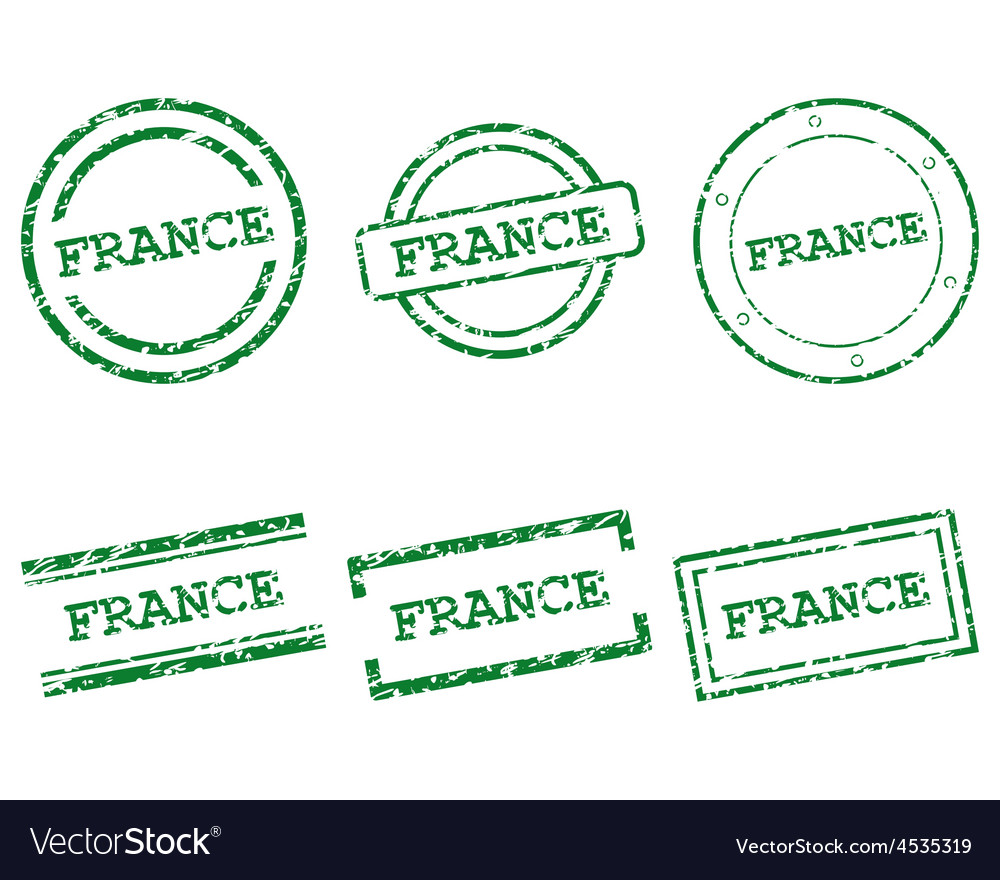 France stamps vector | Price: 1 Credit (USD $1)