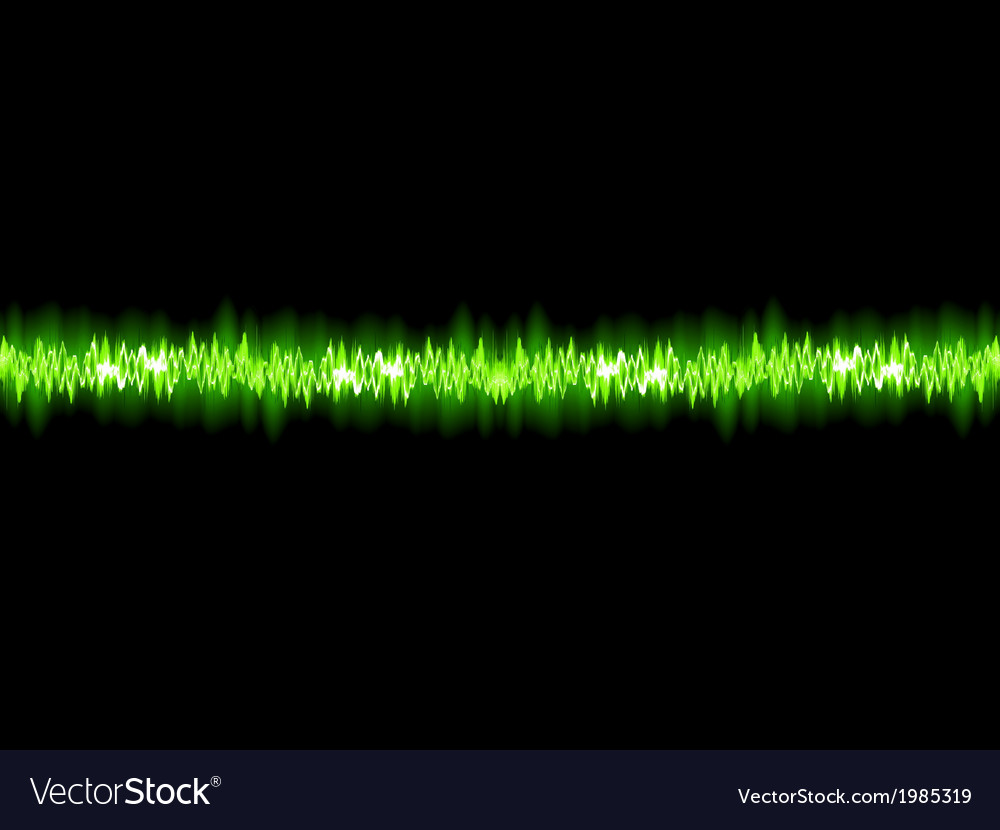 Green sound wave on white background  eps10 vector | Price: 1 Credit (USD $1)
