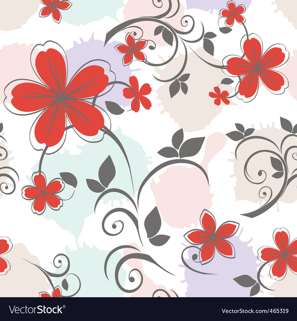 Seamless floral pattern in pas vector | Price: 1 Credit (USD $1)