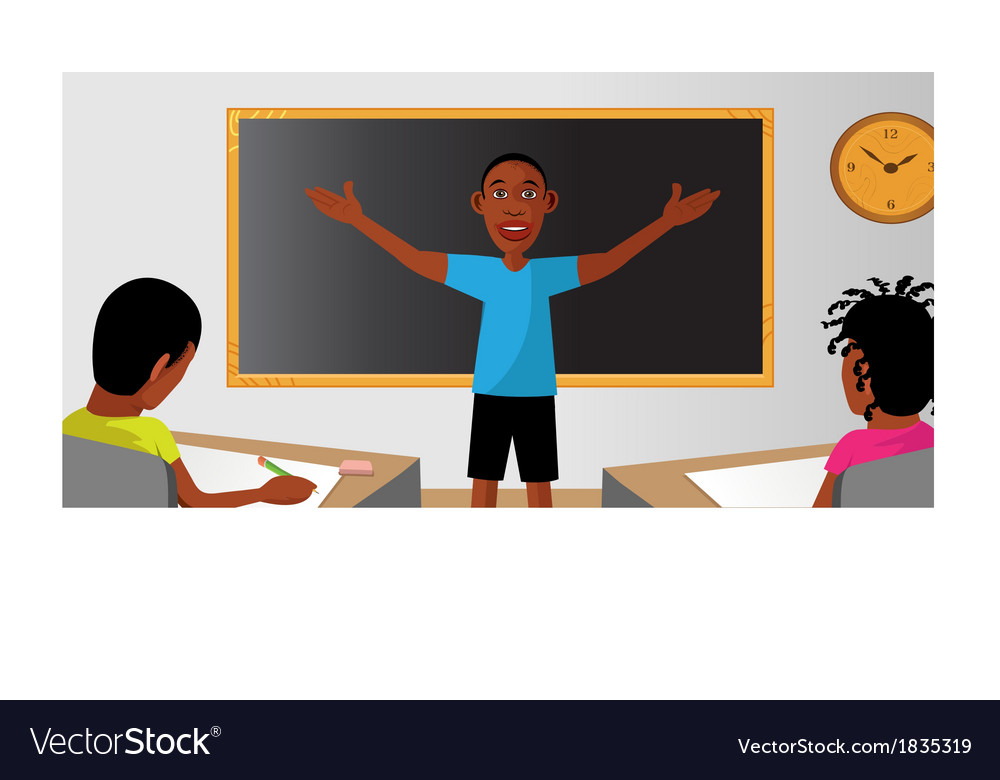 Teacher classroom student vector | Price: 1 Credit (USD $1)