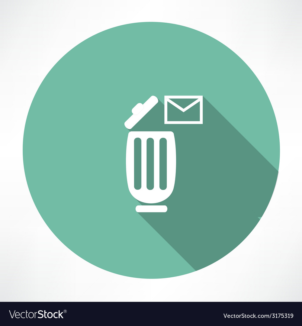 Trash can with a message icon vector | Price: 1 Credit (USD $1)
