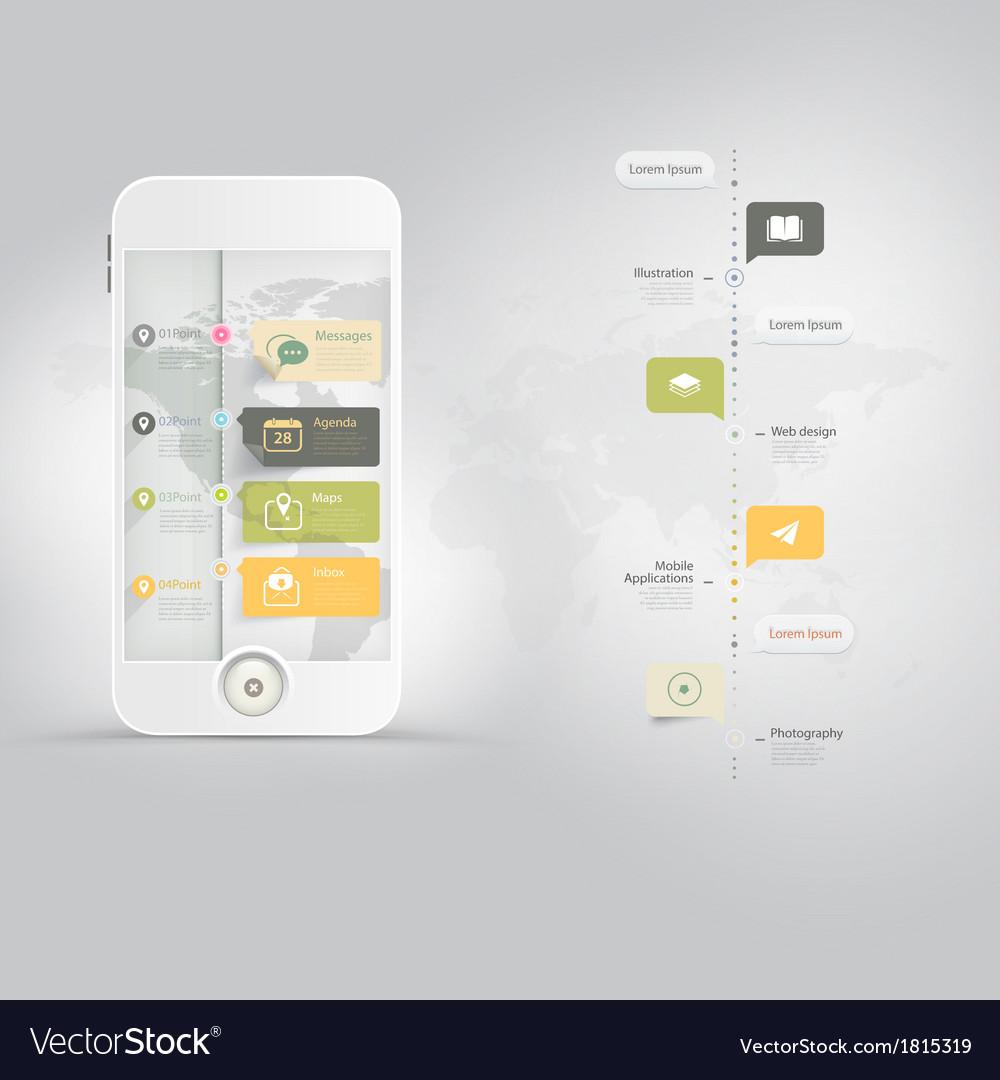 Web design elements inforgraphics vector