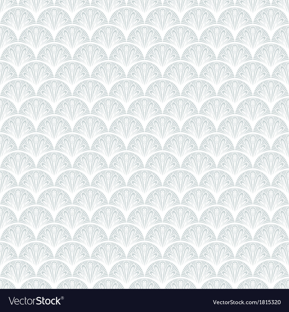 Art deco geometric pattern in silver white vector | Price: 1 Credit (USD $1)