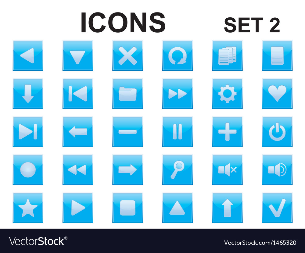 Blue square icons vector | Price: 1 Credit (USD $1)