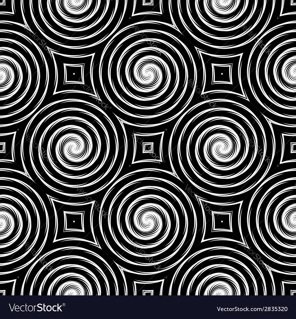 Design seamless monochrome spiral movement pattern vector | Price: 1 Credit (USD $1)