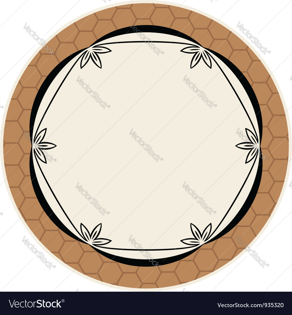 Elegance round frame vector | Price: 1 Credit (USD $1)