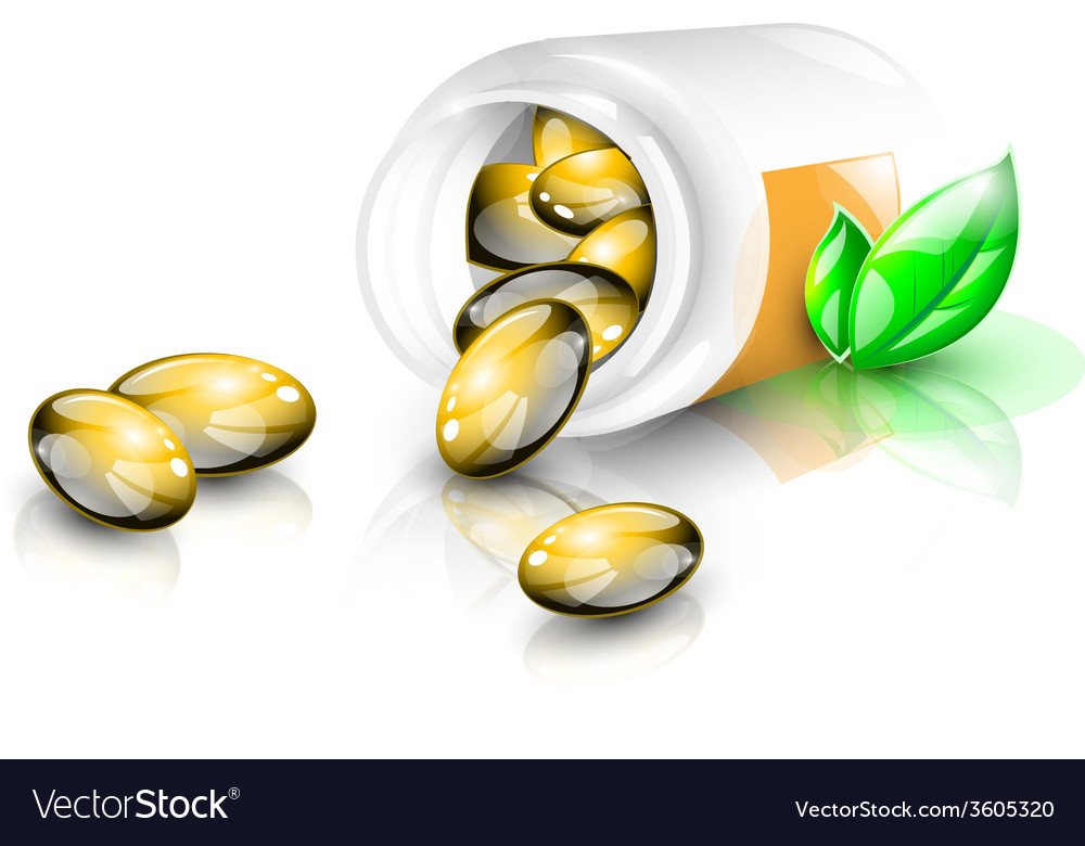 Fish oil capsules vector | Price: 1 Credit (USD $1)