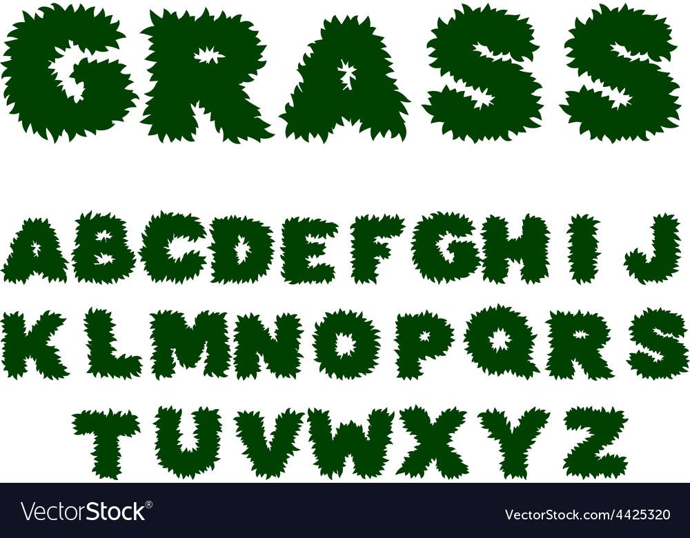 Green grass alphabet vector | Price: 1 Credit (USD $1)